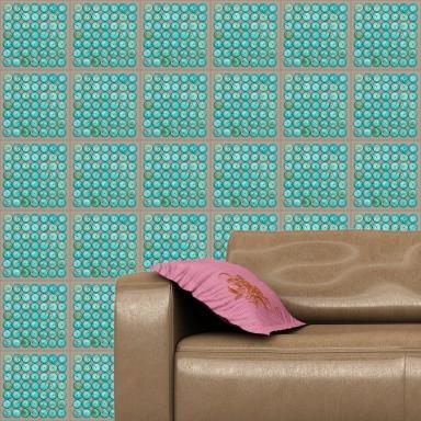 Blue Wood Wallpaper In Interior
