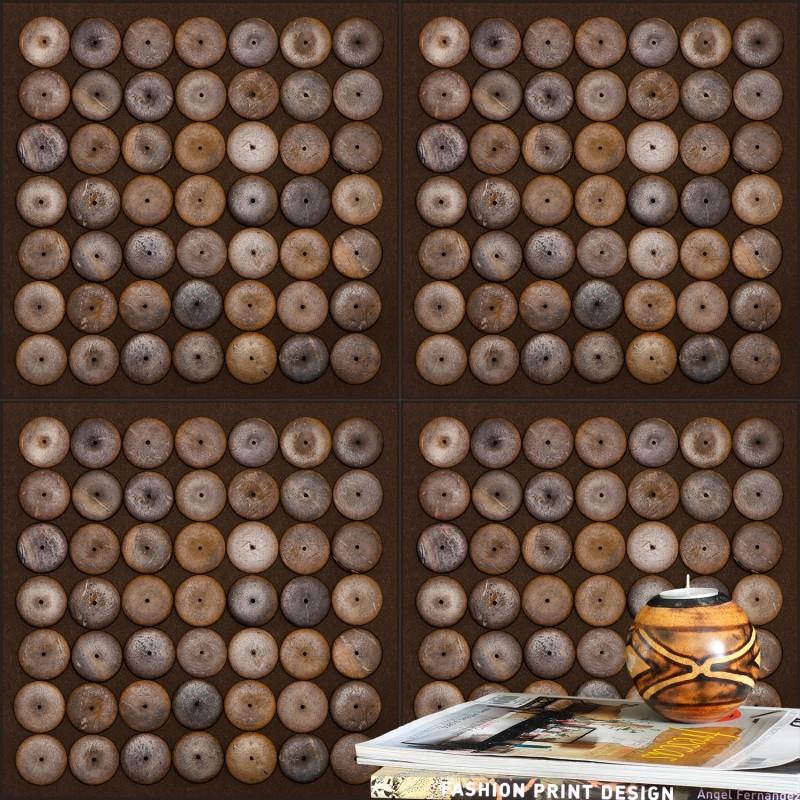 Bronze Wood Wallpaper. FrAgment In Interior.