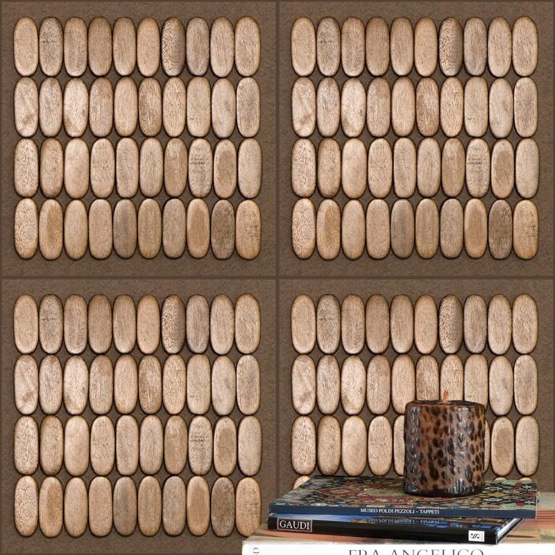 Natural Wood Wallpaper Fragment In Interior.