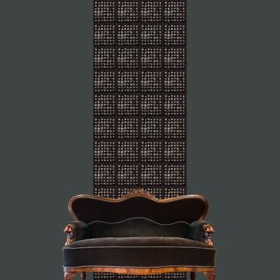 Vertical Panel Black Wood