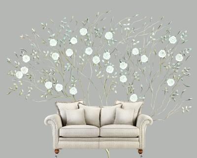 Dreamy Rose Tree On Grey