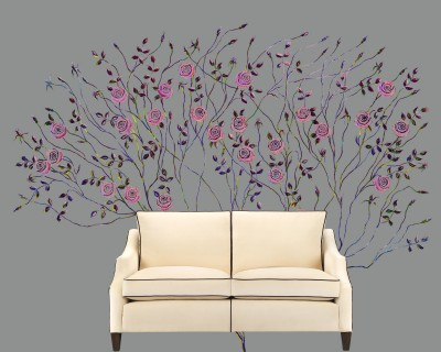 Pop Art Rose Tree On Grey