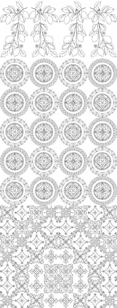 Lemons Panel On White