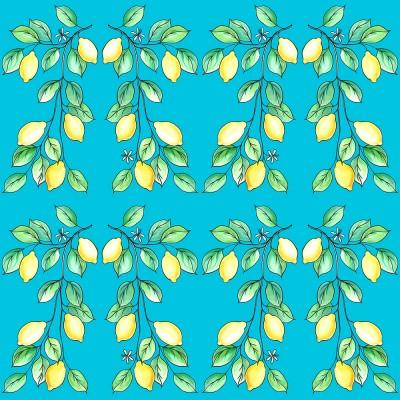 Lemons Day On Blue
