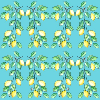 Lemons Day On Light Blue