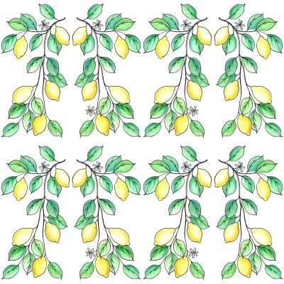 Lemons Day On White