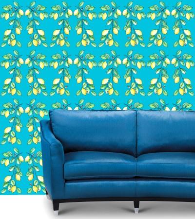 Lemons Day On Blue Background