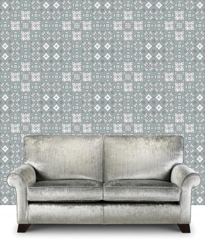 White Tiles On Grey