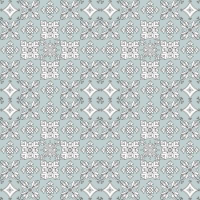 White Tiles On Lightest Grey