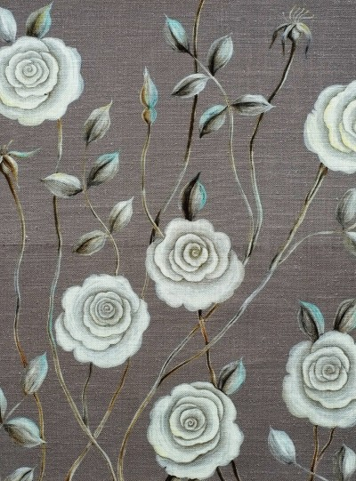 Serene Rose on Light Grey