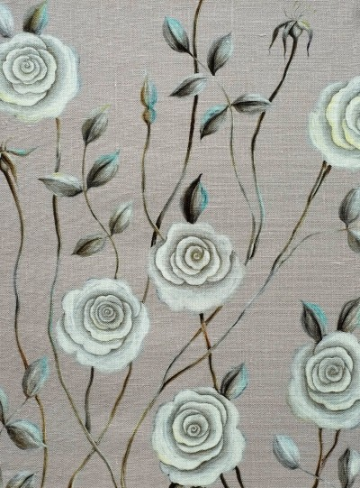 Serene Rose on Light Grey background