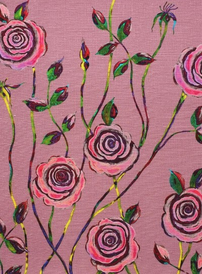 Pop Art Rose on Ducky Pink background