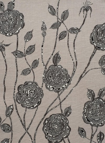 Surreal Rose on Grey background
