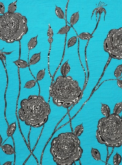 Surreal Rose on Blue background