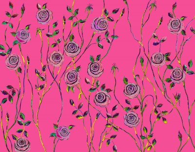 Pop Art Rose Fabric